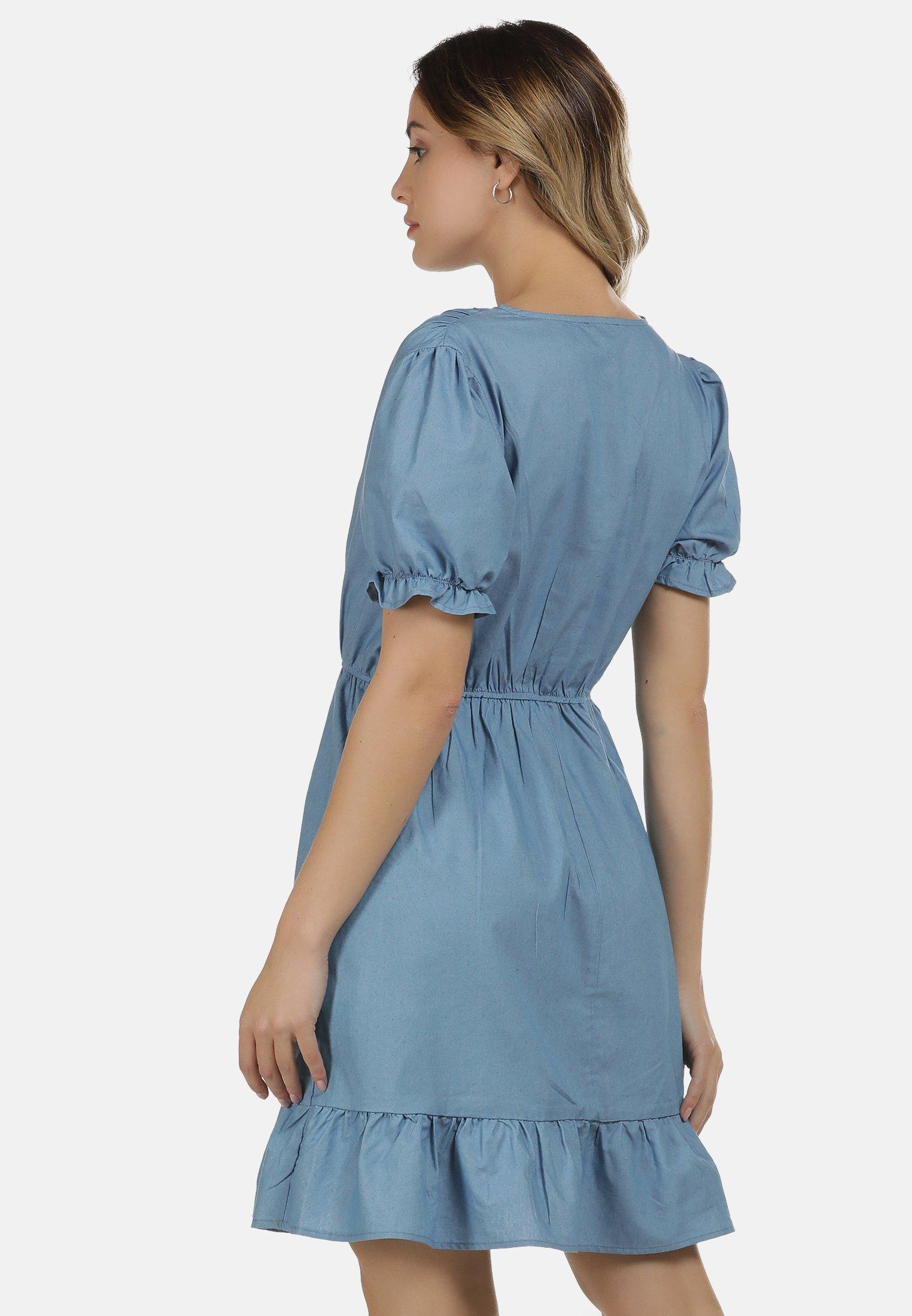 DreiMaster DREIMASTER KLEID Jeanskleid blau