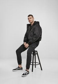 Brandit - HOODED  - Light jacket - black - 1