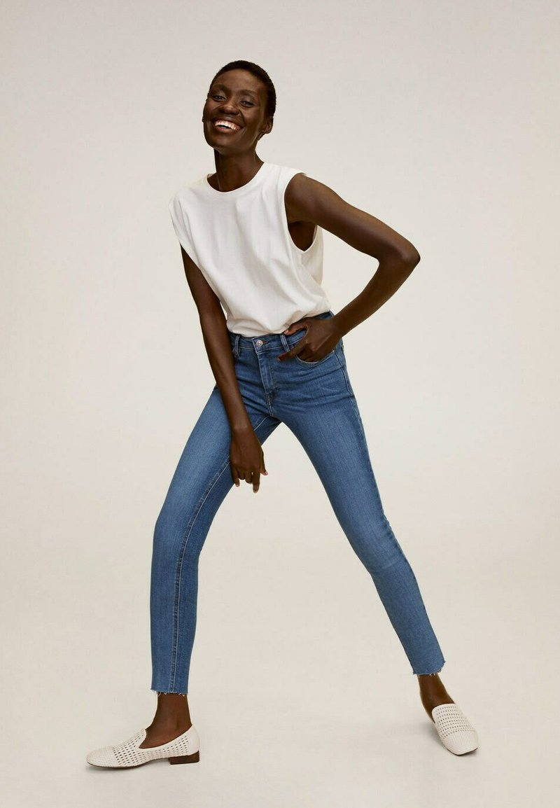 Mango - ISA - Jeans Skinny Fit - middenblauw