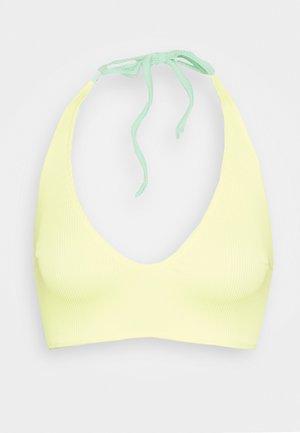 REVERSIBLE ANTONIA PLUNGE - Bikini top - lemon/green