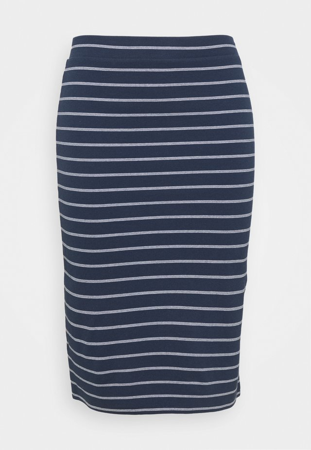 BODYCON STRIPES SKIRT - Gonna a tubino - twilight navy/multi