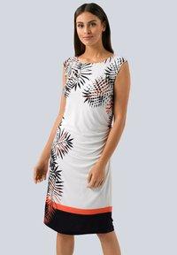 Alba Moda - Jersey dress - off-white schwarz orange - 0
