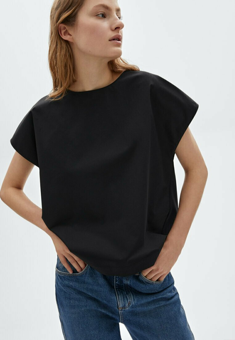 Massimo Dutti - Print T-shirt - black