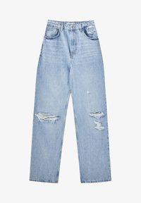 Jeans Straight Leg - blue-grey