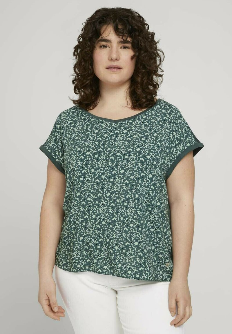 MY TRUE ME TOM TAILOR - Blouse - mint flowers and dots
