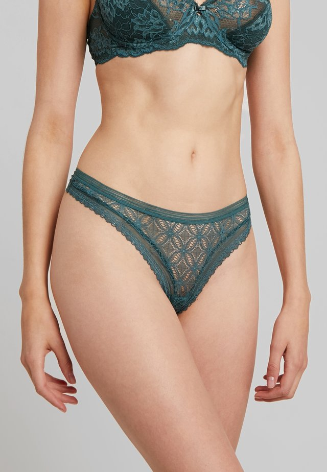 THONG - String - dark jade