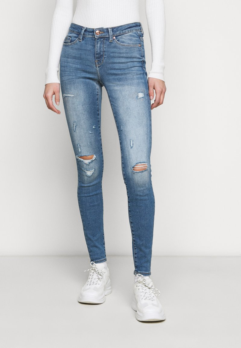 ONLY Tall - ONLCARMEN LIFE TALL - Jeans Skinny Fit - medium blue denim