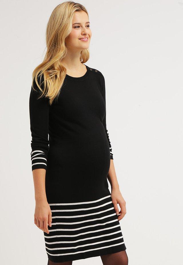 Gebreide jurk - black/ecru
