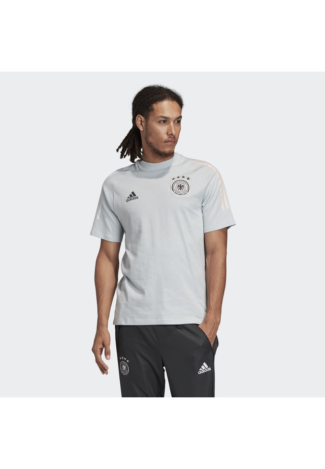 DEUTSCHLAND DFB TEE - T-shirt imprimé - light grey
