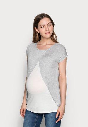 BASIC NURSING TOP - T-shirts med print - mid grey mélange