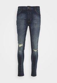 Brave Soul - OLIVER - Jeans Skinny Fit - dark blue wash - 4