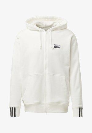 FULL-ZIP HOODIE - Zip-up hoodie - white