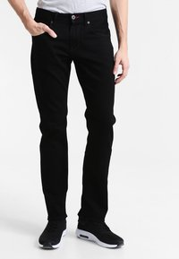 Tommy Hilfiger - DENTON - Straight leg jeans - clean black - 0