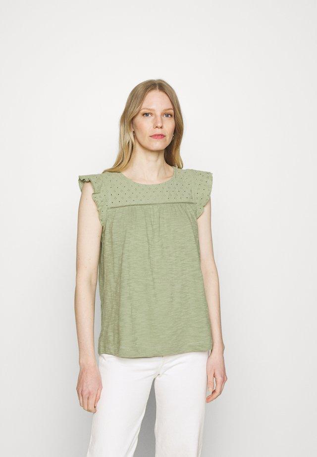 MIX - Camiseta estampada - light khaki