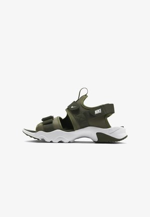 DUMMY - Walking sandals - medium olive/cargo khaki/white