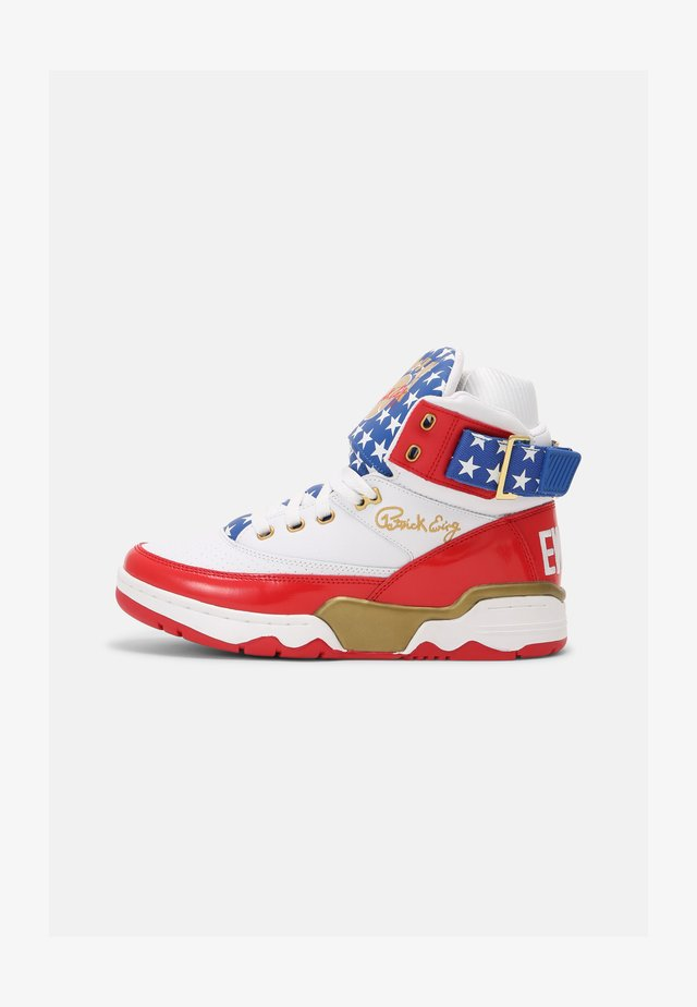 33 HI USA 4TH OF JULY - Sneakers alte - white/blue/gold