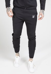SIKSILK - CREASED PANTS - Spodnie treningowe - black - 0