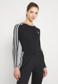 adidas Originals - ORIGINALS ADICOLOR BODYWEAR SUIT FITTED - Bluzka z długim rękawem - black - 0