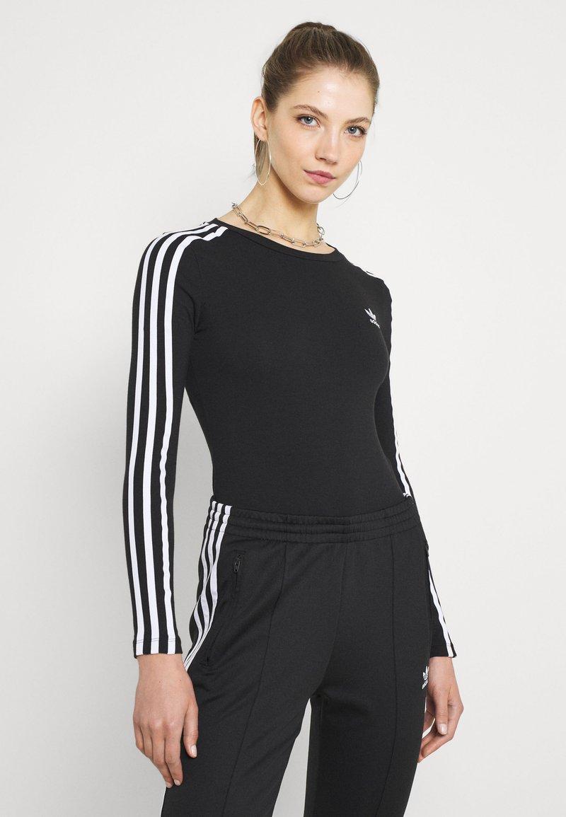 adidas Originals - ORIGINALS ADICOLOR BODYWEAR SUIT FITTED - Bluzka z długim rękawem - black