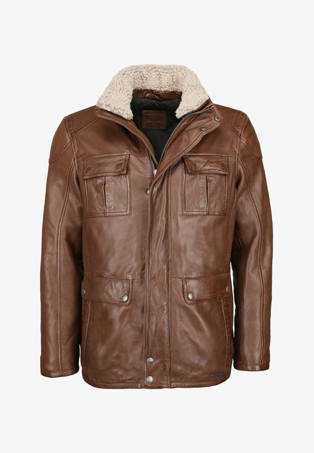 Lederjacke - mid brown