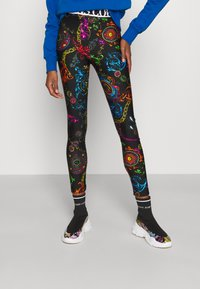 Versace Jeans Couture - Leggings - Trousers - black/multi coloured - 0
