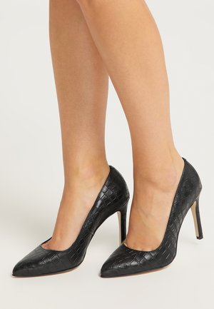 Classic heels - kroko schwarz