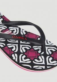 O'Neill - MOYA  - T-bar sandals - black with purple - 7