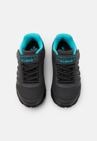 Skechers - DYNAMIC FLASH - Trainers - charcoal/black/turquoise