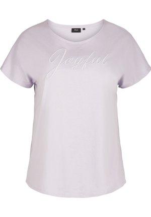 T-shirt print - light purple