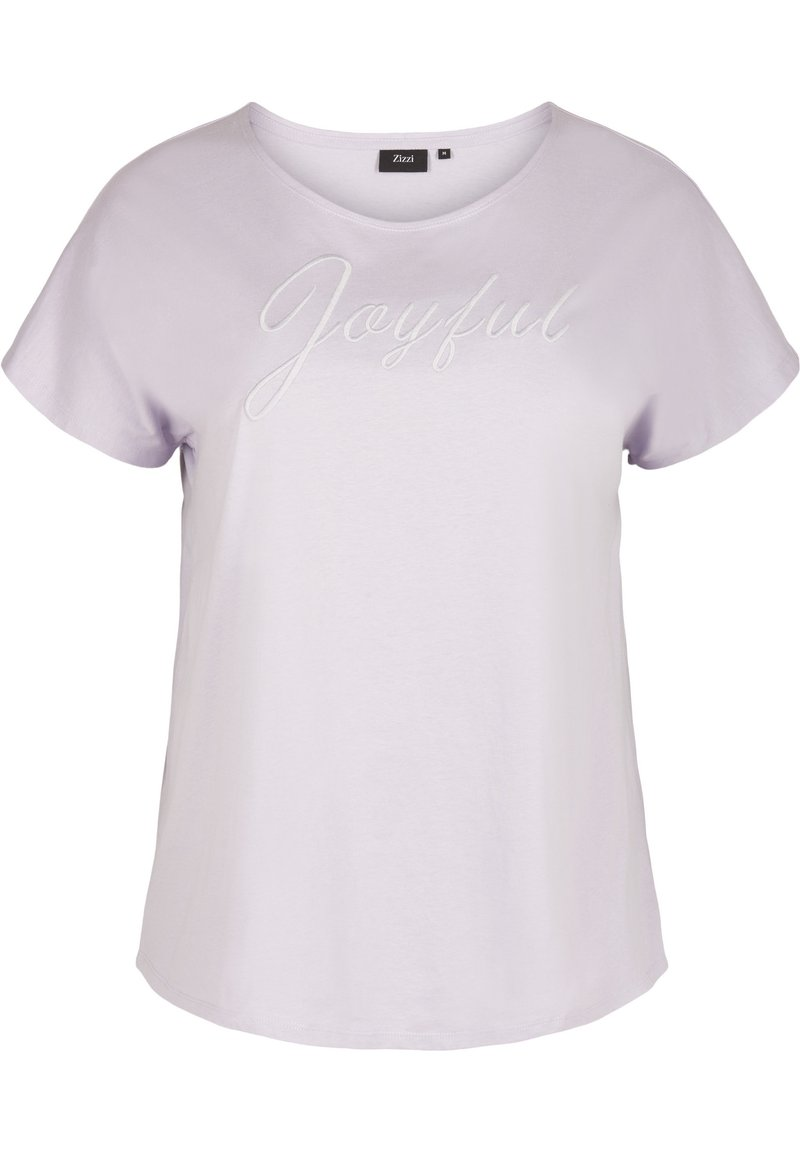 Zizzi - T-shirt print - light purple