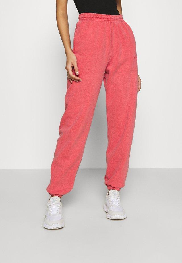 PANT - Pantalon de survêtement - washed red