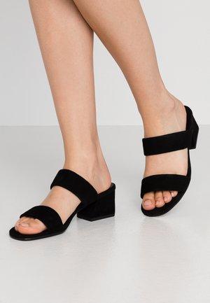 ELENA - Heeled mules - black