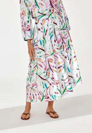 BRUNI  - Áčková sukně - white