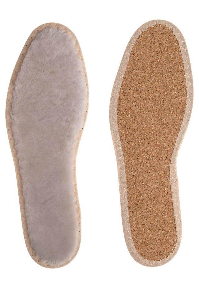 Wkładki do butów - Lammfell mit Korkboden