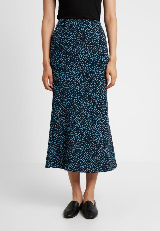 LOLITA SPOTTY MIDI SKIRT - Pencil skirt - turquoise