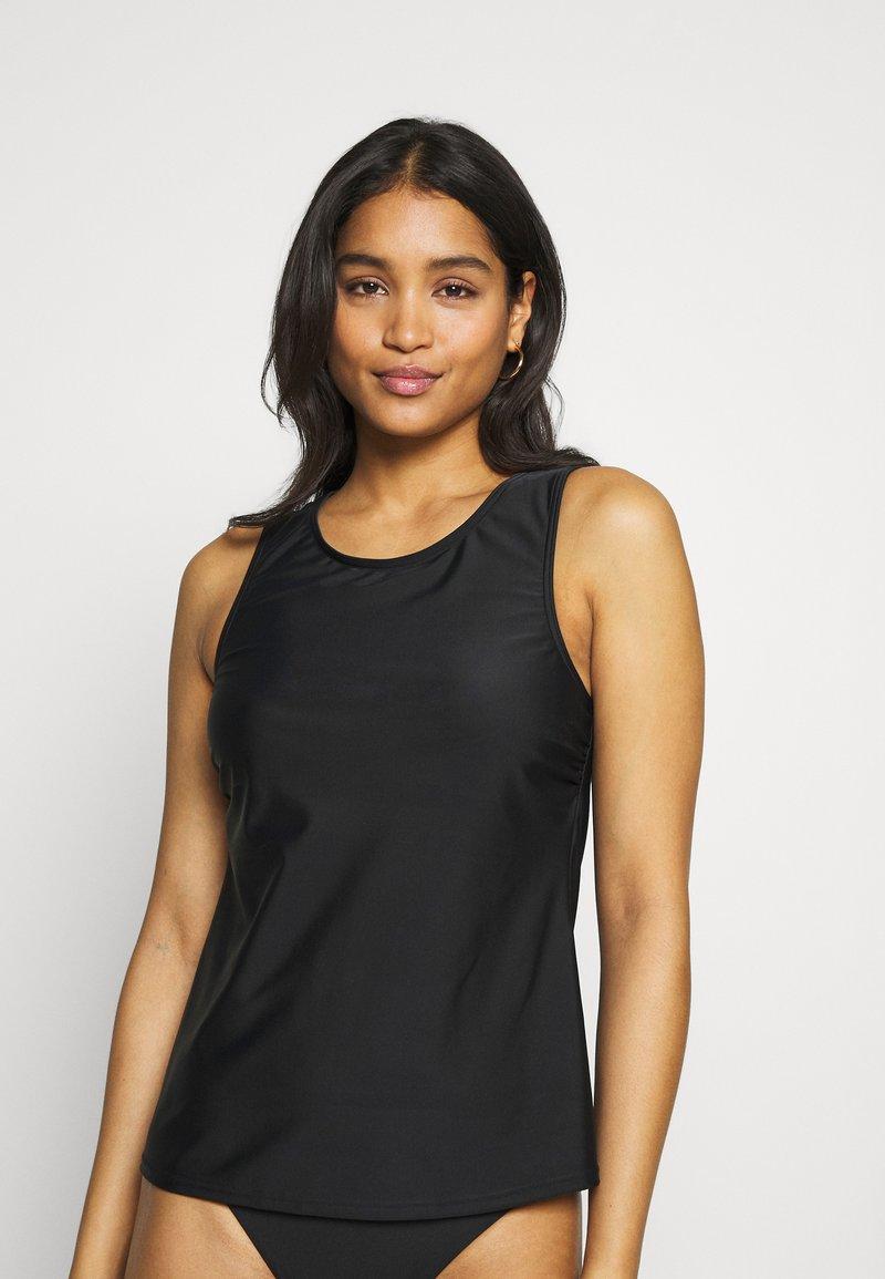 LASCANA - SWIM SHIRT MATCH - Bikini top - black