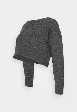 MLCAB CROPPED - Strikkegenser - dark grey melange