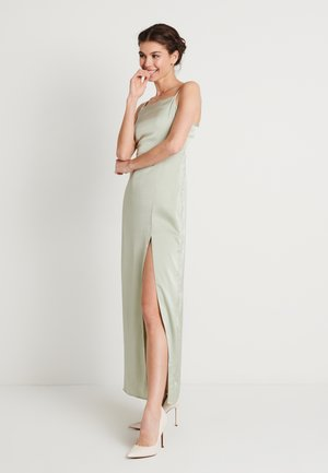 HIGH SLIT DRESS - Maxi dress - dusty green