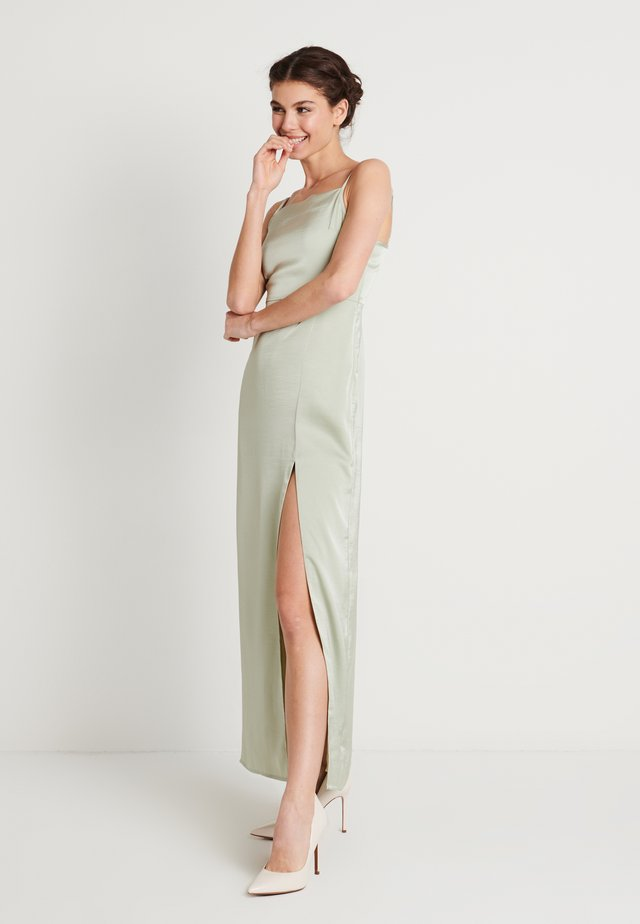 HIGH SLIT DRESS - Maxikjole - dusty green