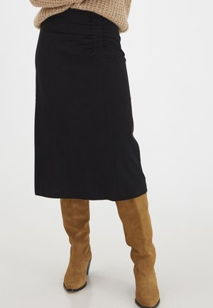 BYDANTA  - A-line skirt - black