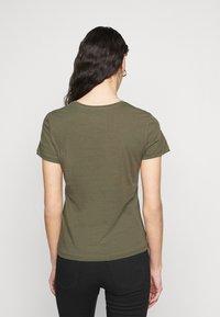ONLY Tall - ONLPURE LIFE O NECK 2 PACK - Basic T-shirt - grape leaf/apple butter - 2