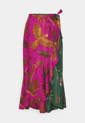 MIXED JUNGLE SKY WRAP SKIRT - Pencil skirt - multi