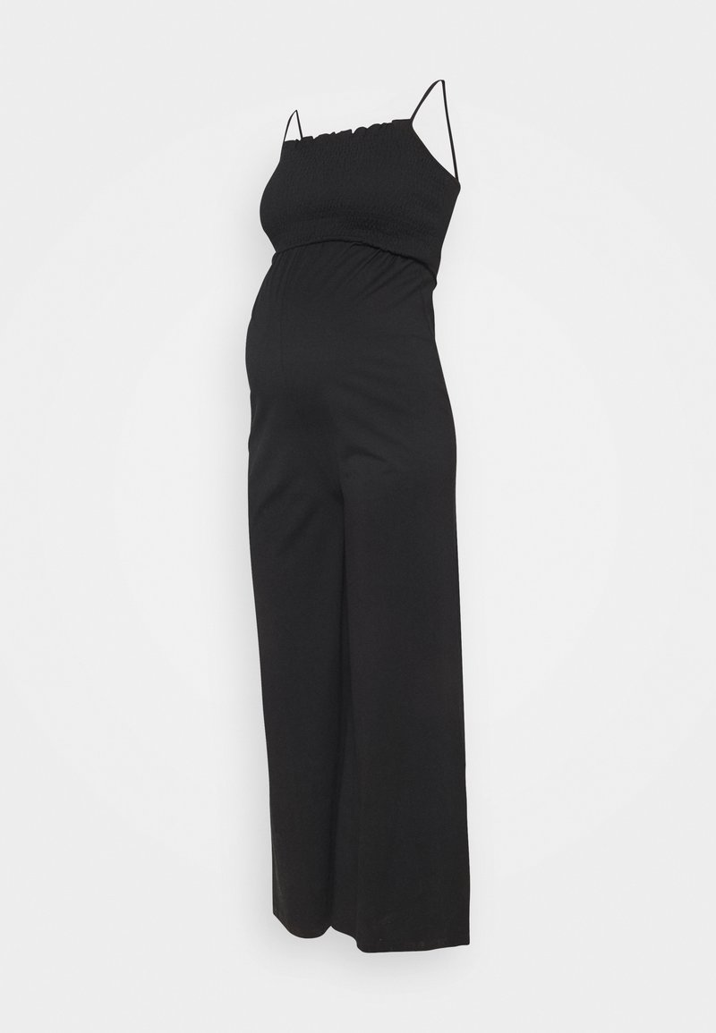 Pieces Maternity - PCMTILY WIDE CROPPED  - Haalari - black