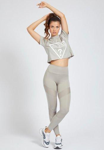 Print T-shirt - grigio