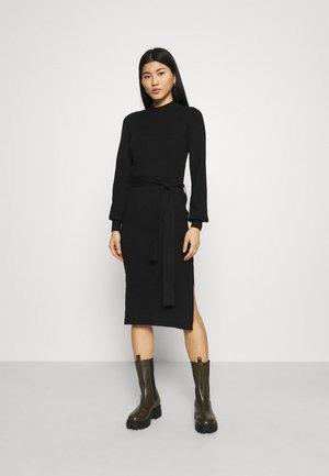 MALLORY LIKE DRESS - Pletené šaty - black