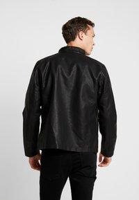 TOM TAILOR DENIM - BIKER - Faux leather jacket - black - 2