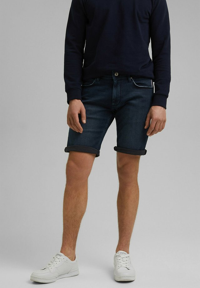 FASHION - Denim shorts - blue dark washed
