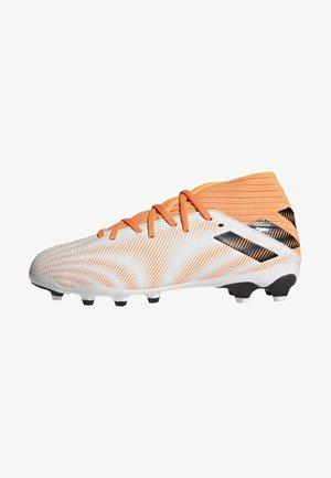 NEMEZIZ .3 MONOGRAM MULTI GROUND - Moulded stud football boots - ftwwht/cblack/scrora