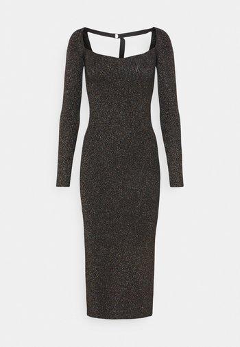 AMETRINE - Shift dress - black