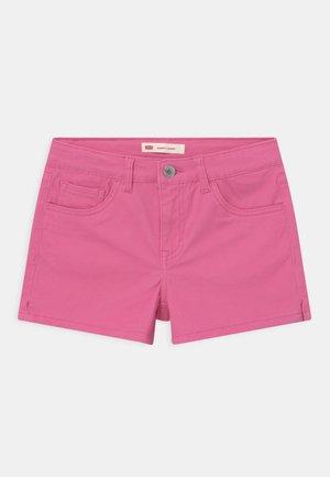 Denim shorts - neon pink